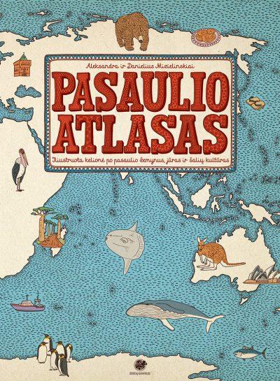 Pasaulio atlasas žemėlapiai vaikams